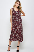 Load image into Gallery viewer, Jostar Women's Stretchy Long Tank Dress Print-700BN-TRP1-W296