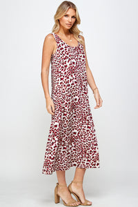 Jostar Women's Stretchy Long Tank Dress Print 700BN-TRP1-W302