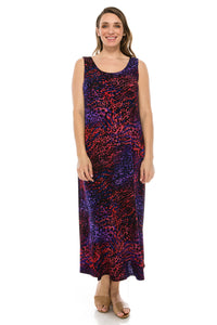 Jostar Women's Stretchy Long Tank Dress Print, 700BN-TP-W001 - Jostar Online