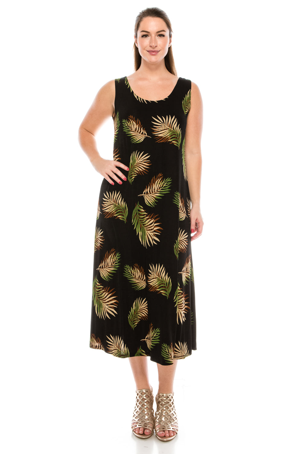Jostar Women's Stretchy Long Tank Dress Print, 700BN-TP-W002 - Jostar Online