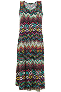 Jostar Women's Stretchy Long Tank Dress Print, 700BN-TP-W041 - Jostar Online