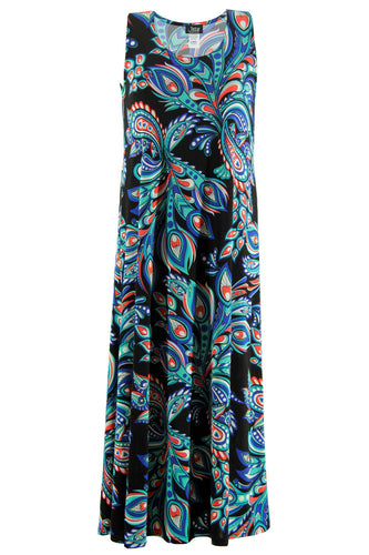 Jostar Women's Stretchy Long Tank Dress Print, 700BN-TP-W044 - Jostar Online