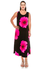 Load image into Gallery viewer, Jostar Women's Stretchy Long Tank Dress Print, 700BN-TP-W113 - Jostar Online