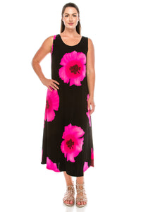 Jostar Women's Stretchy Long Tank Dress Print, 700BN-TP-W113 - Jostar Online