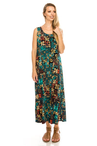 Jostar Women's Stretchy Long Tank Dress Print, 700BN-TP-W167 - Jostar Online