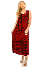 Load image into Gallery viewer, Jostar Women's Stretchy Tank Long Dress Sleeveless Plus Print, 700BN-TXP-W187