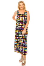 Load image into Gallery viewer, Jostar Women's Stretchy Tank Long Dress Sleeveless Plus Print, 700BN-TXP-W198