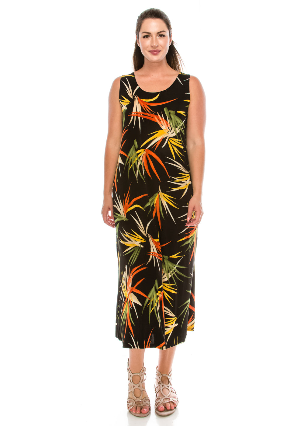 Jostar Women's Stretchy Long Tank Dress Print, 700BN-TP-W679 - Jostar Online
