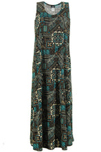 Load image into Gallery viewer, Jostar Women's Stretchy Tank Long Dress Sleeveless Plus Print, 700BN-TXP-W070 - Jostar Online