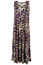 Load image into Gallery viewer, Jostar Women's Stretchy Tank Long Dress Sleeveless Plus Print, 700BN-TXP-W088 - Jostar Online