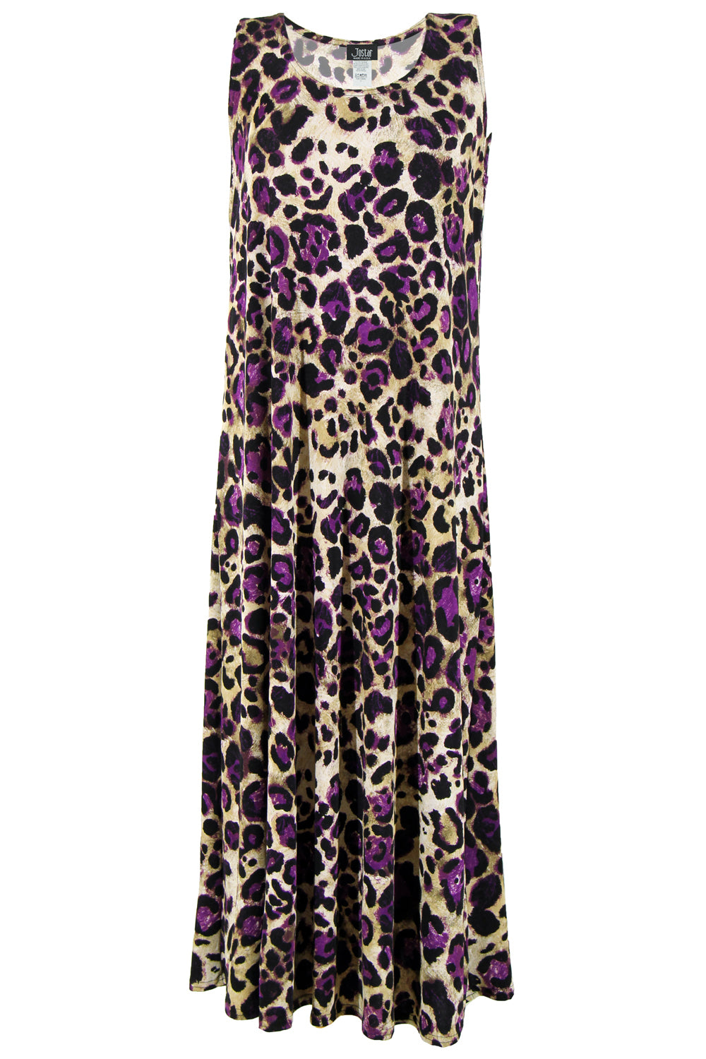 Jostar Women's Stretchy Tank Long Dress Sleeveless Plus Print, 700BN-TXP-W088 - Jostar Online