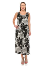 Load image into Gallery viewer, Jostar Women's Stretchy Tank Long Dress Sleeveless Plus Print, 700BN-TXP-W120 - Jostar Online