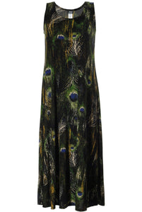 Jostar Women's Stretchy Tank Long Dress Sleeveless Plus Print, 700BN-TXP-W120