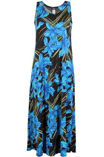 Jostar Women's Stretchy Tank Long Dress Sleeveless Plus Print, 700BN-TXP-W683 - Jostar Online