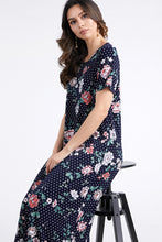 Load image into Gallery viewer, Jostar Women's Stretchy Long Dress Short Sleeve Print-702BN-SRP1-W211