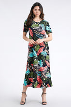 Load image into Gallery viewer, Jostar Women's Stretchy Long Dress Short Sleeve Print-702BN-SRP1-W212