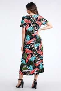 Jostar Women's Stretchy Long Dress Short Sleeve Print-702BN-SRP1-W212
