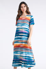 Load image into Gallery viewer, Jostar Women's Stretchy Long Dress Short Sleeve Plus Plus, 702BN-SXP-W213