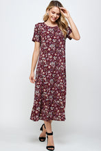 Load image into Gallery viewer, Jostar Women's Stretchy Long Dress Short Sleeve Plus Plus-702BN-SXP-W296