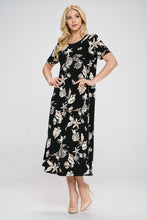 Load image into Gallery viewer, Jostar Women's Stretchy Long Dress Short Sleeve Print-702BN-SRP1-W309