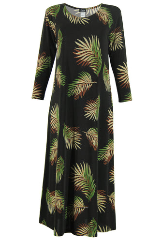 Jostar Women's Stretchy Long Dress 3/4 Sleeve Print, 702BN-QP-W002 - Jostar Online