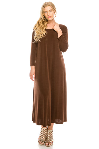Jostar Women's Stretchy Long Dress QS, 702BN-Q - Jostar Online