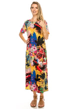 Load image into Gallery viewer, Jostar Women's Stretchy Long Dress Short Sleeve Print, 702BN-SP-W169 - Jostar Online