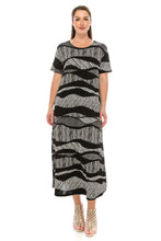 Load image into Gallery viewer, Jostar Women's Stretchy Long Dress Short Sleeve Plus Plus, 702BN-SXP-W715 - Jostar Online