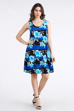 Load image into Gallery viewer, Jostar Women's Stretchy Missy Tank Dress Print Plus, 703BN-TXP1-W071