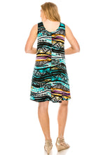 Load image into Gallery viewer, Jostar Women's Stretchy Missy Tank Dress Print Plus, 703BN-TXP-W194