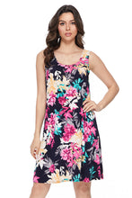 Load image into Gallery viewer, Jostar Women's Stretchy Missy Tank Dress Print-703BN-TRP1-W214