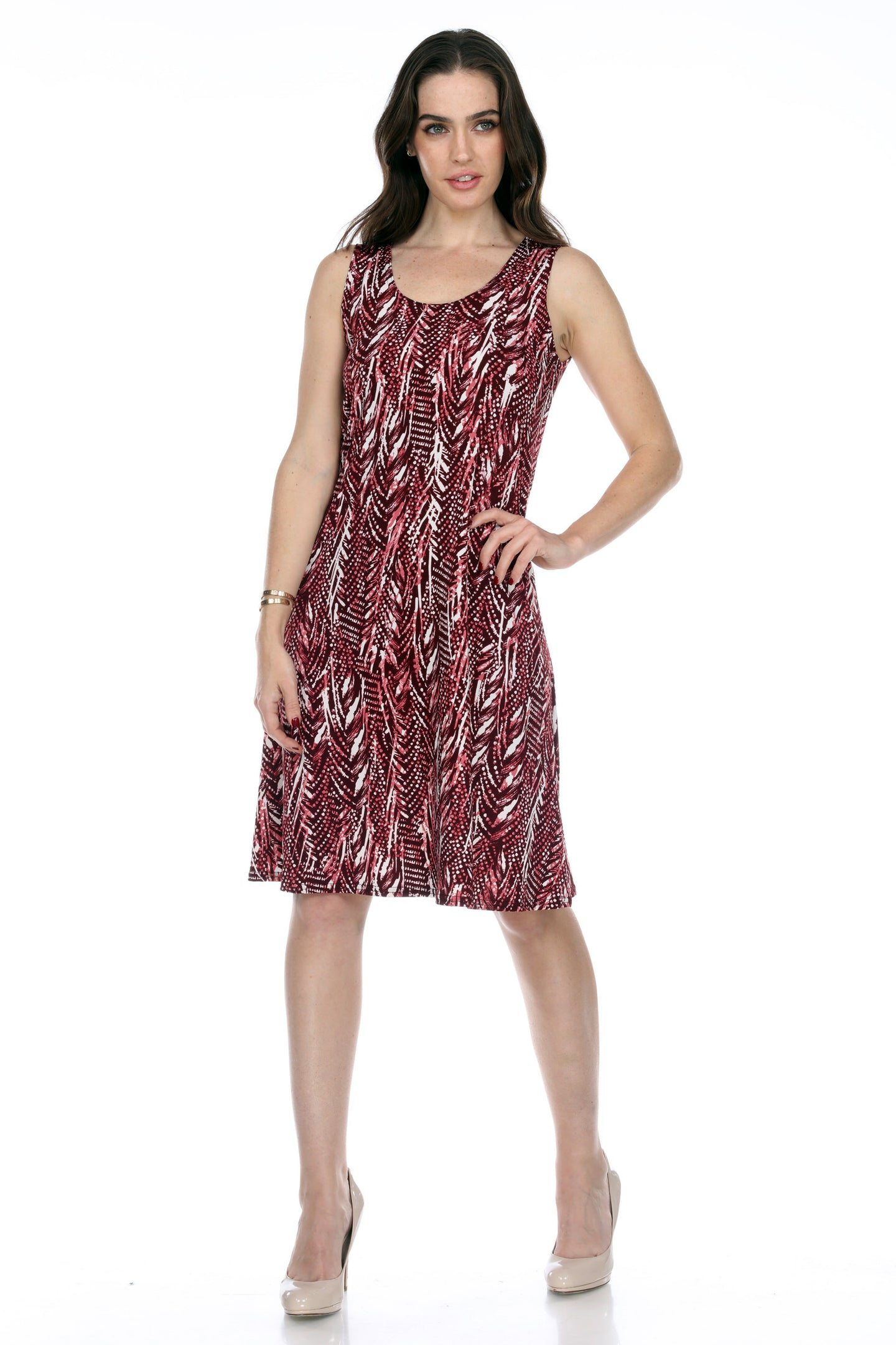Jostar Women's Stretchy Missy Tank Dress Print Plus, 703BN-TXP-W247