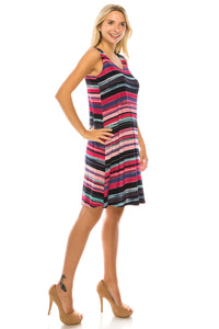 Jostar Women's Stretchy Missy Tank Dress Print Plus, 703BN-TXP1-W275