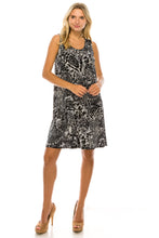 Load image into Gallery viewer, Jostar Women's Stretchy Missy Tank Dress Print, 703BN-TP-W277 - Jostar Online
