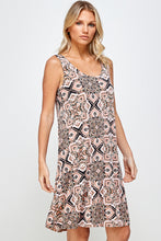 Load image into Gallery viewer, Jostar Women's Stretchy Missy Tank Dress Print-703BN-TRP1-W303