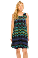 Load image into Gallery viewer, Jostar Women's Stretchy Missy Tank Dress Print Plus, 703BN-TXP-W176