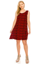 Load image into Gallery viewer, Jostar Women's Stretchy Missy Tank Dress Print, 703BN-TP-W187 - Jostar Online