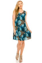 Load image into Gallery viewer, Jostar Women's Stretchy Missy Tank Dress Print, 703BN-TP-W188 - Jostar Online