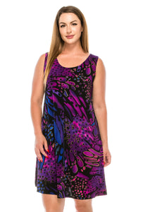 Jostar Women's Stretchy Missy Tank Dress Print-703BN-TRP1-W207