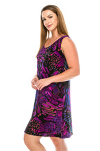 Load image into Gallery viewer, Jostar Women's Stretchy Missy Tank Dress Print-703BN-TRP1-W207