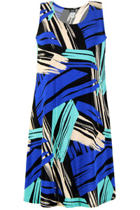 Jostar Women's Stretchy Missy Tank Dress Print Plus, 703BN-TXP-W037 - Jostar Online