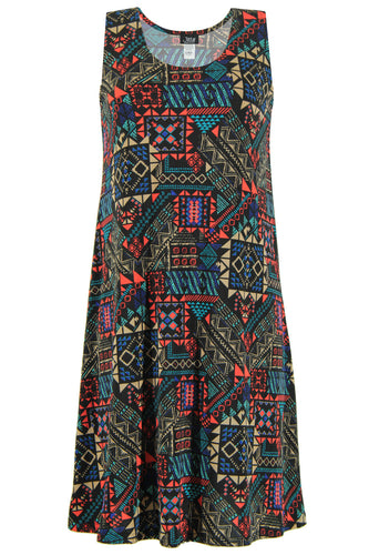 Jostar Women's Stretchy Missy Tank Dress Print Plus, 703BN-TXP-W070 - Jostar Online