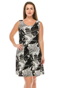 Jostar Women's Stretchy Missy Tank Dress Print Plus, 703BN-TXP-W120 - Jostar Online