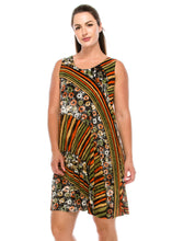Load image into Gallery viewer, Jostar Women's Stretchy Missy Tank Dress Print Plus, 703BN-TXP-W160 - Jostar Online