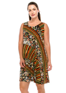 Jostar Women's Stretchy Missy Tank Dress Print Plus, 703BN-TXP-W160 - Jostar Online