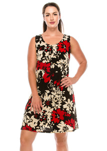 Jostar Women's Stretchy Missy Tank Dress Print Plus, 703BN-TXP-W161 - Jostar Online