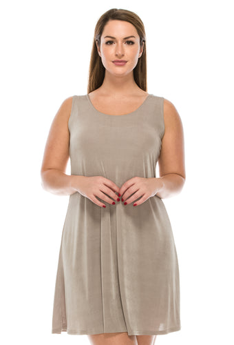 Jostar Women's Stretchy Tank Missy Dress Sleeveless Plus, 703BN-TX - Jostar Online
