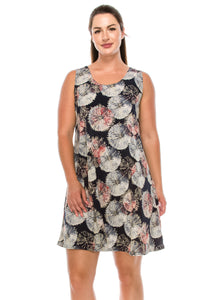Jostar Women's HIT Missy Tank Dress Sleeveless Prints, 703HT-TP-W156 - Jostar Online