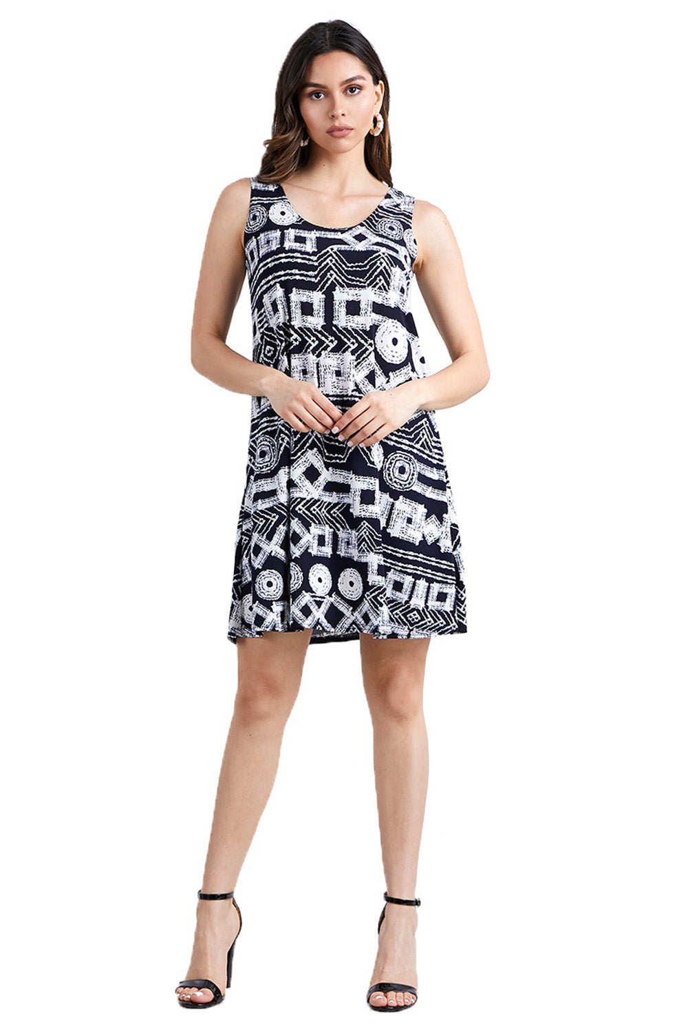 Jostar Women's HIT Missy Tank Dress Sleeveless Prints, 703HT-TP-W197 - Jostar Online