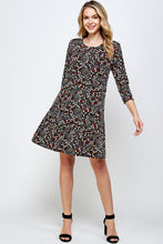 Load image into Gallery viewer, Jostar Women's Stretchy Missy Dress Quarter Sleeve Print-704BN-QRP1-W295